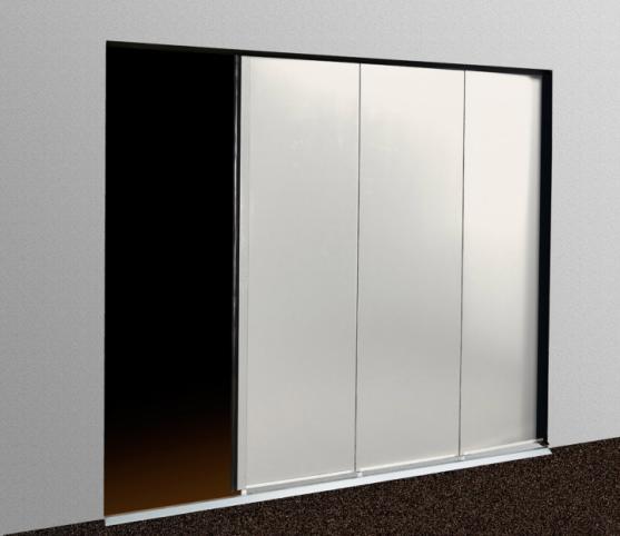 Porte de garage latérale - Panneau sans rainure Blanc Pur RAL 9010