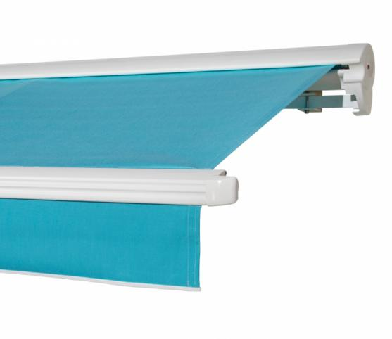 1_s_Store banne à cassette FRANCIAFLEX modèle Figari Auvent - Armature RAL 9010 Blanc - Toile DICKSON Orchestra 6688 Turquoise.jpg