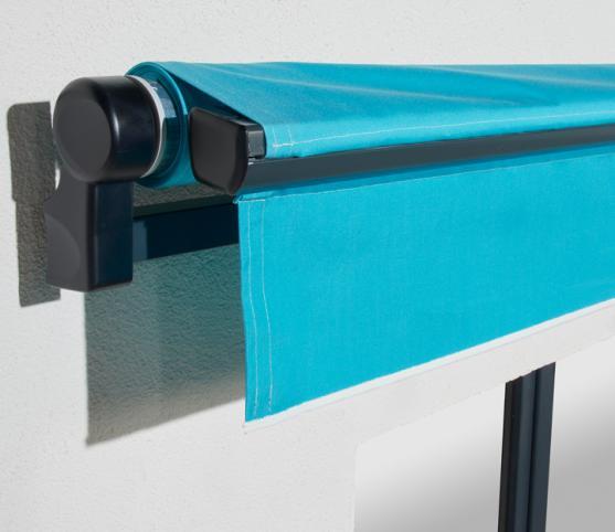 6_Store banne traditionnel FRANCIAFLEX modèle Horizon - en position fermé - Armature RAL 7016 Anthracite .jpg