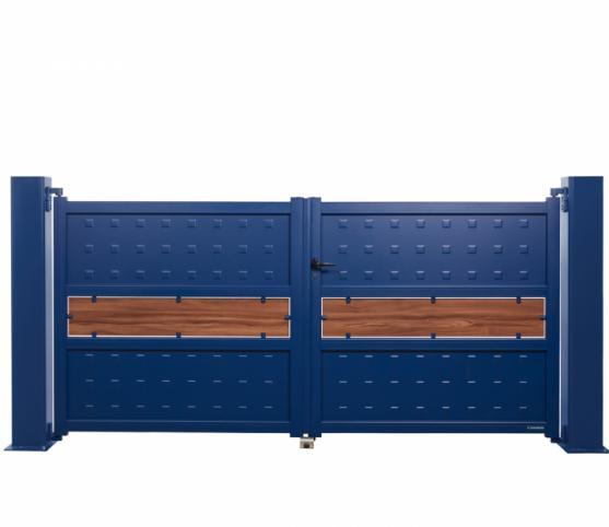 1_Portail battant - La Toulousaine - gamme Mélodie - modèle Largo - Coloris BLEU 5003.jpg