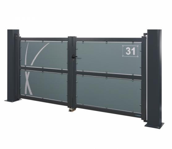 3_h_Portail battant - La Toulousaine - gamme Intuition - modèle Aloé - Coloris 7016 + 7031.jpg