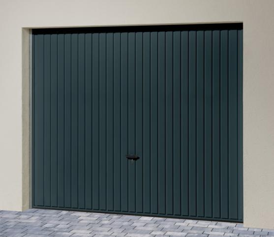 1_s_Porte de garage basculante DL Novoferm - Panneau à nervures verticales - Coloris gris RAL 7016.jpg