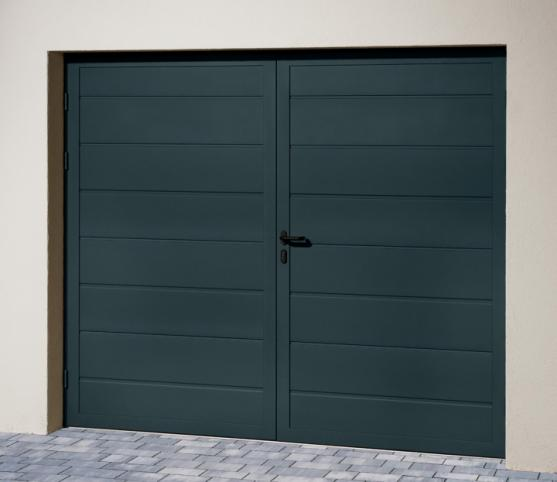 1_s_Porte de garage battante Duoport nervure large - Coloris RAL7016 Gris anthracite.jpg