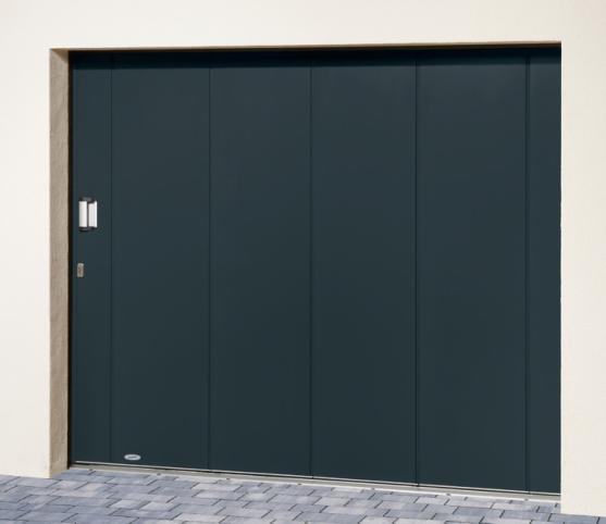1_s_Porte de garage latérale NOVOSIDE Novoferm - Panneau sans nervure - Finition lisse - Coloris RAL 7016 Gris.jpg