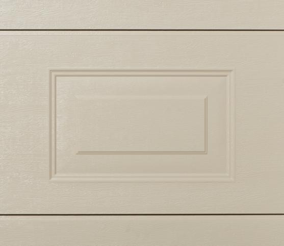 11_Détail panneau porte de garage sectionnelle cassette ISO45 Novoferm RAL S2800 Gris perle sablé et finition wood grain.jpg