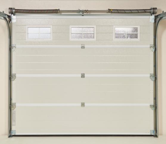 13_Vue intérieure - Porte de garage sectionnelle  ISO 45 - Equilibrage par ressorts torsions - Coloris intérieur RAL 9002 Blanc Gris.jpg
