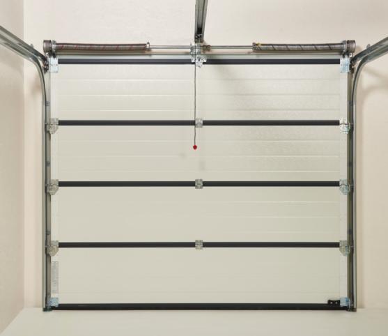 13_Vue intérieure-Système à ressorts et équilibrage par torsion-Panneau intérieur porte Coloris RAL 9002 Blanc Gris - Porte de garage sectionnelle ISO 45 Novoferm.jpg