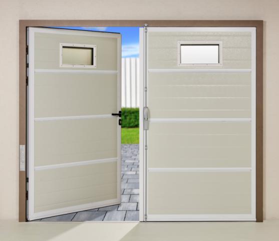 16_Vue intérieur porte de garage battante Novoferm Duoport - Coloris panneau intérieur RAL 9002 Blanc Gris.jpg