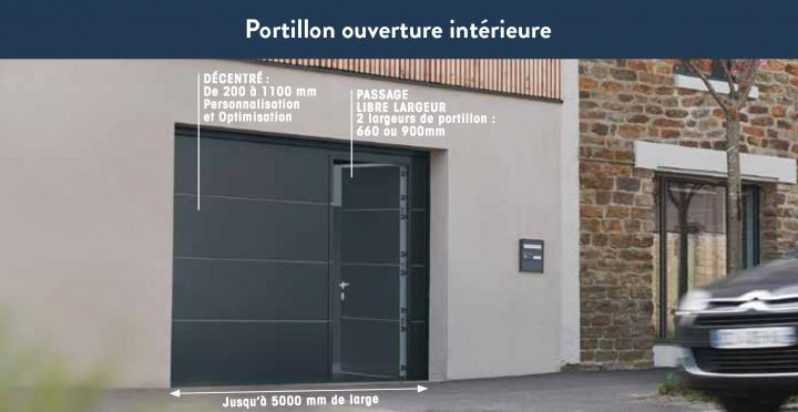19_Portillon ouverture intérieure - Version Premium - Porte de garage ISO 45 Novoferm.jpg