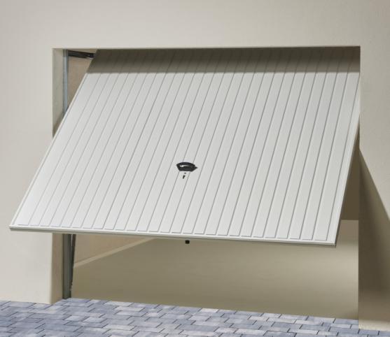 5_Porte de garage basculante DL Novoferm à refoulement plafond - Panneau à nervures verticales - Coloris Blanc RAL 9016.jpg