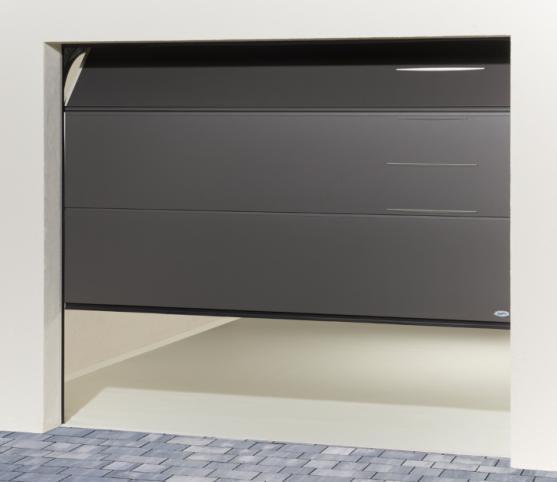 5_Porte de garage sectionnelle à refoulement plafond - Modèle alinéa ISO 45 Novoferm - Option coloris S2900 Gris sablé.jpg
