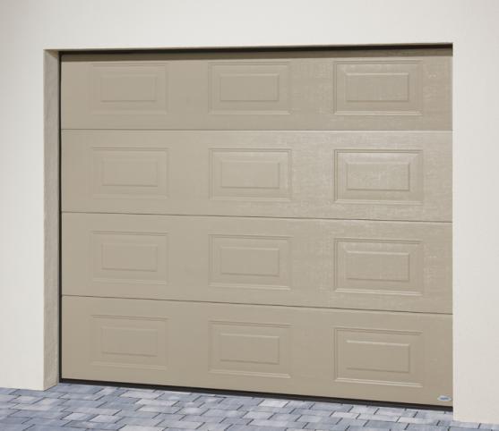 6_porte de garage sectionnelle panneau cassette ISO45 Novoferm - Option coloris RAL S2800 Gris perle sablé.jpg