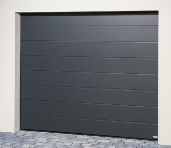 7_Porte de garage sectionnelle ISO45 Novoferm - panneau nervure large - finition lisse - Coloris satin dark grey.jpg