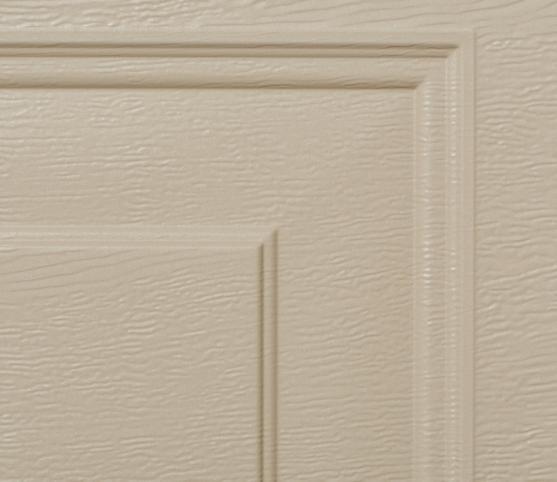 9_Détail panneau porte de garage sectionnelle cassette ISO45 Novoferm RAL S2800 Gris perle sablé et finition wood grain.jpg