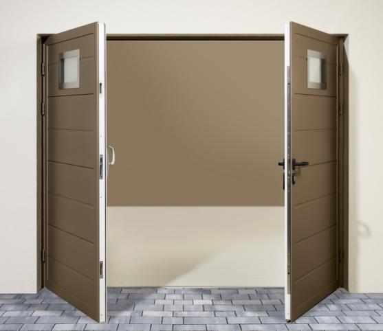 9_Porte de garage battante Duoport ouverture vers l'extérieur - ouverture vers l'intérieur possible sur demande.jpg