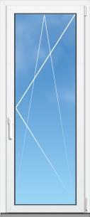 Porte fenêtre Mixte PVC/Aluminium ALYA Excellence - AMCC - 1 VANTAIL