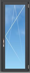 Porte fenêtre Aluminium OC70 Excellence - AMCC - 1 VANTAIL