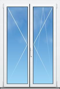 Porte fenêtre Mixte PVC/Aluminium ALYA Excellence - AMCC - 2 VANTAUX