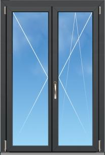 "Porte fenêtre Aluminium ""OC70 Excellence"" - 2 VANTAUX"