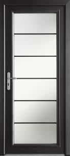 """Porte d'entrée Aluminium """"Lotus"""""""