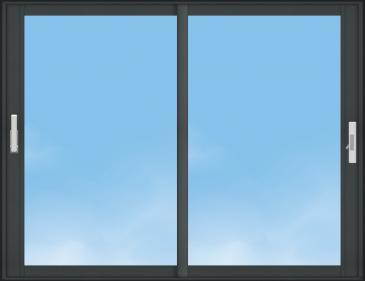 Fenêtre Aluminium C70 Excellence - AMCC - COULISSANTE - 2 VANTAUX
