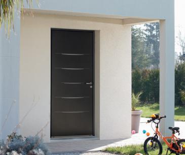 """Porte d'entrée Mixte alu / bois """"Alinéa Mixte"""""""