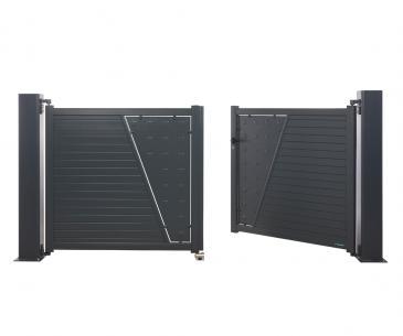 Portail battant Aluminium Sicile - La Toulousaine
