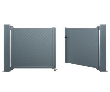 Portail battant Aluminium Largo - La Toulousaine