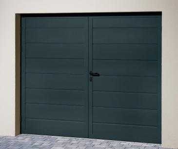 """Porte de garage sectionnelle """"ISO 45"""" - Panneau Nervures Larges"""