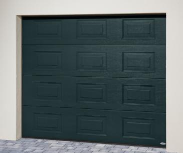 """Porte de garage sectionnelle """"ISO 45"""" - Panneau Design Alinéa"""