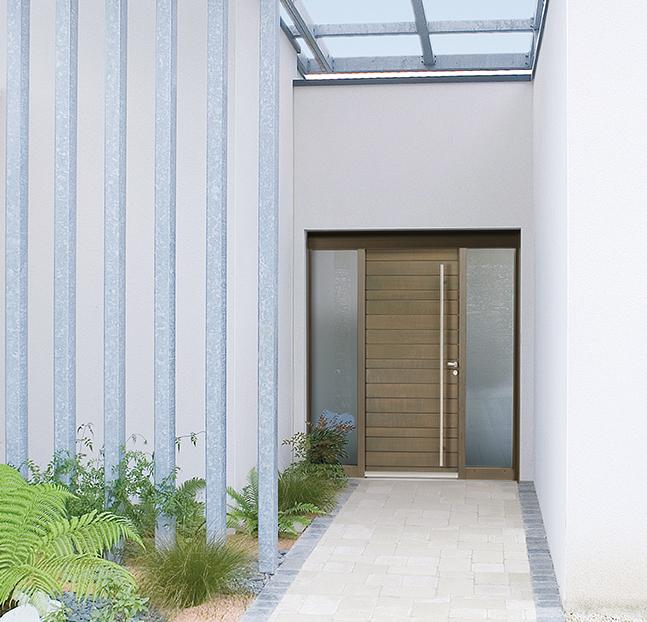 Porte d 39 entr e bois belcastel for Prix porte d entree bois