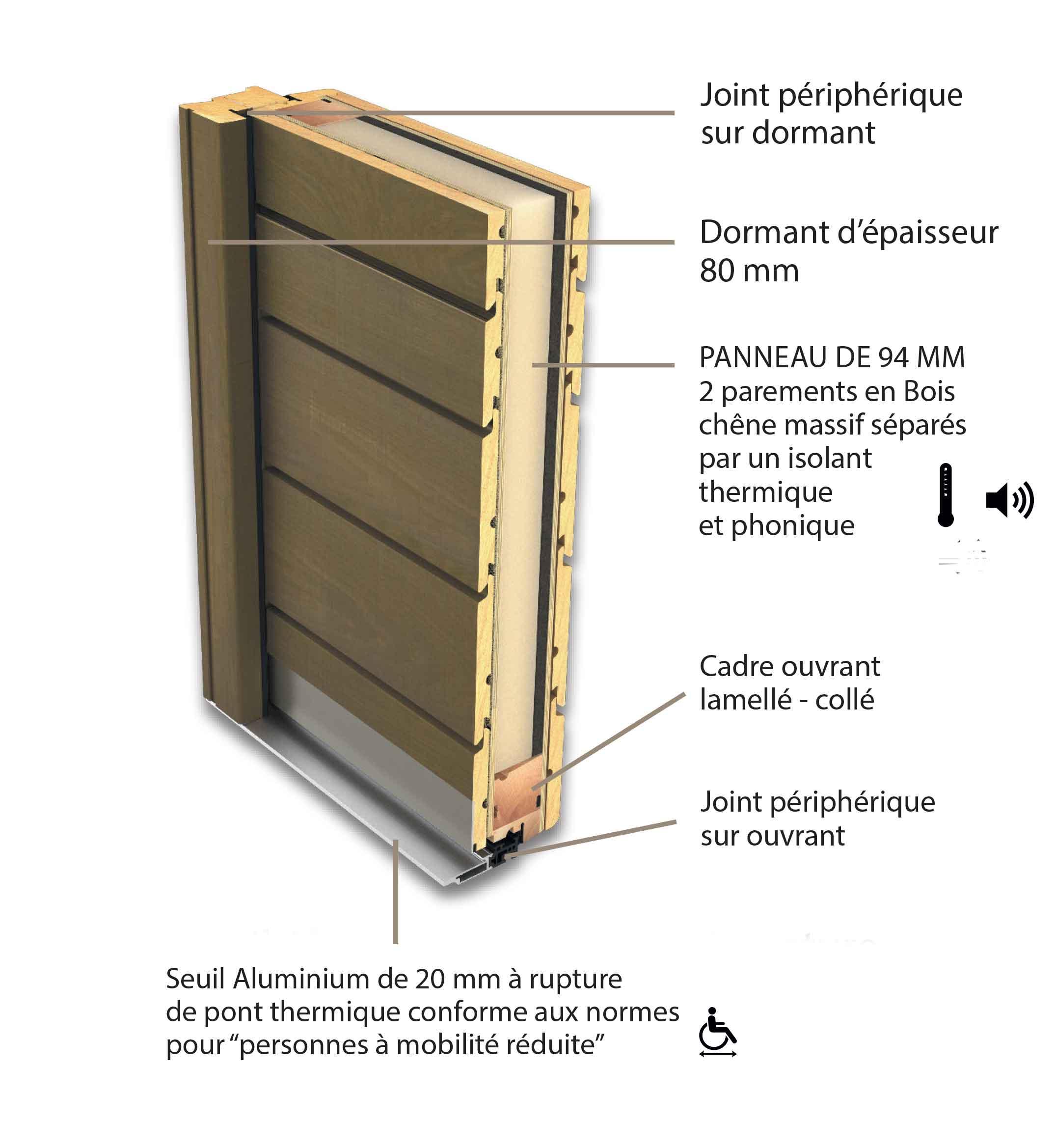 """Porte D Entrée En Bois Massif Prix porte d'entrée bois """"belcastel"""""""