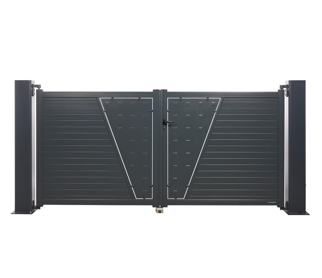 Portail battant aluminium vancouver - Portail battant 1 porte ...
