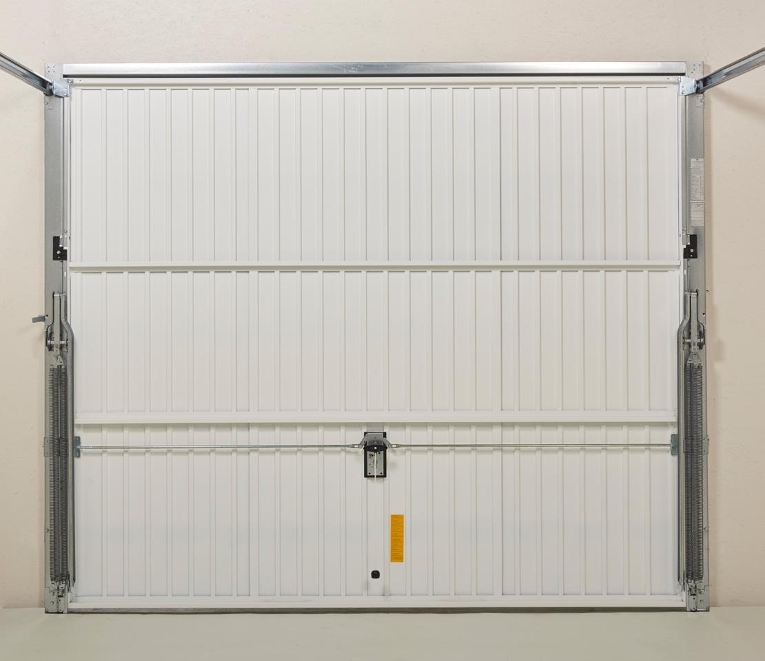 porte de garage basculante dl panneau nervures verticales