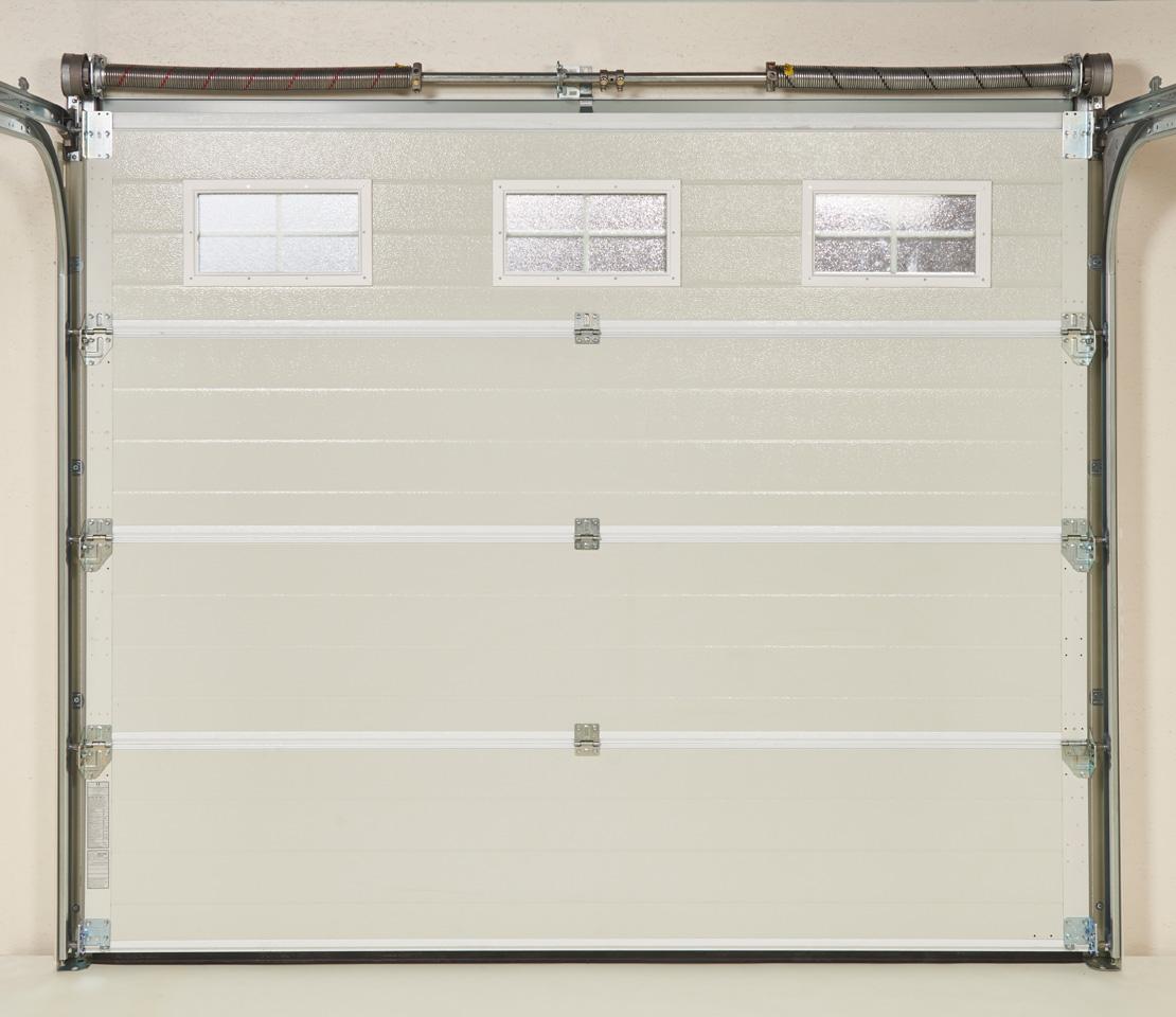 """Couleur Porte Interieur Blanc Gris porte de garage sectionnelle """"iso 45"""" - panneau cassette"""