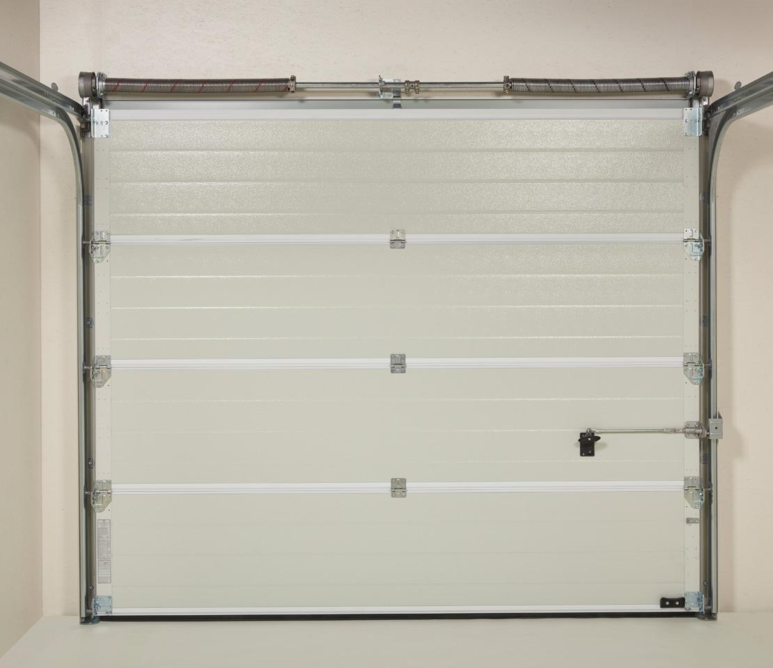 Porte De Garage Sectionnelle Iso 45 Panneau Sans Nervures