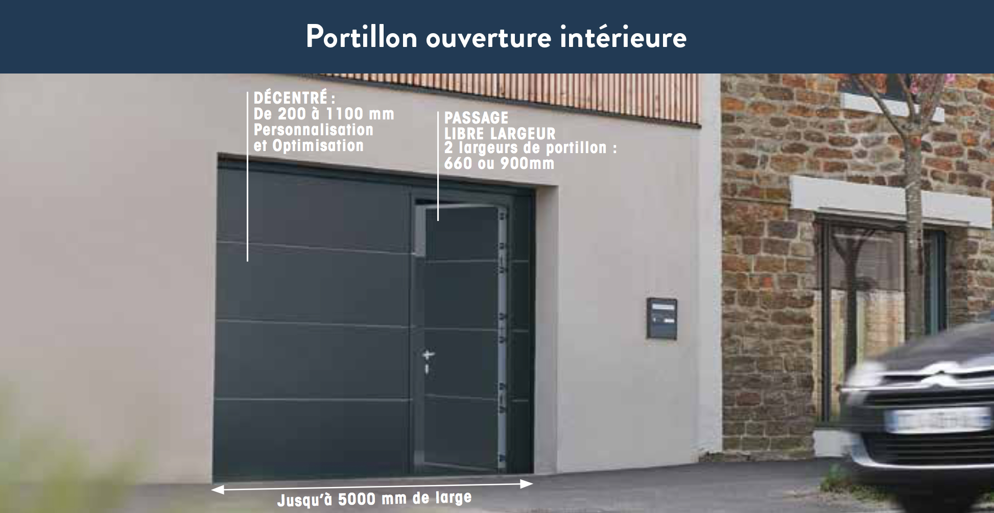 porte de garage sectionnelle iso 45 panneau cassette. Black Bedroom Furniture Sets. Home Design Ideas