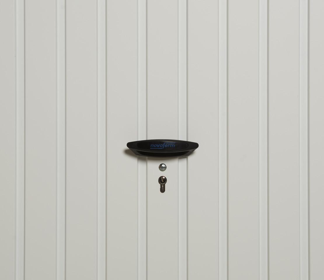 porte de garage basculante dl panneau nervures verticales. Black Bedroom Furniture Sets. Home Design Ideas